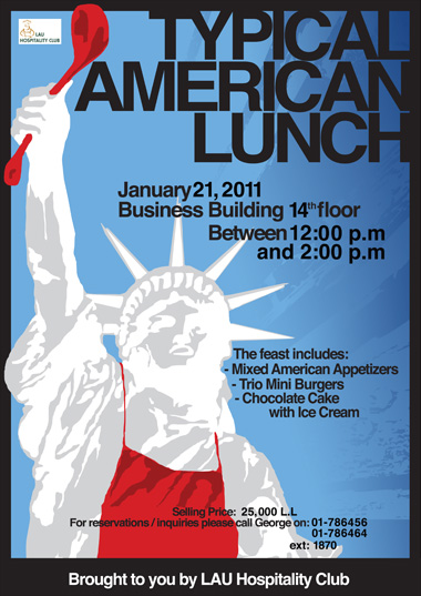 LAU | Events | Typical American lunch